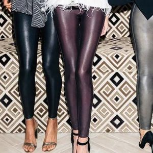 Spanx Faux Leather in Color Wine